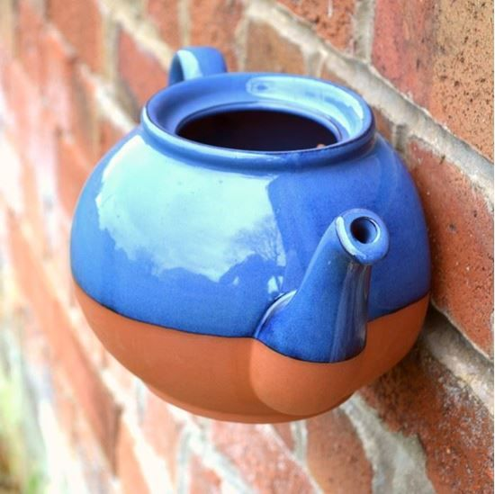 Traditional teapots adapted for use as original wall pots.