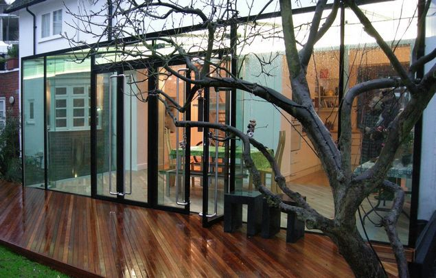 Contemporary modern coloured glass extension, that's what gets my juices flowing...