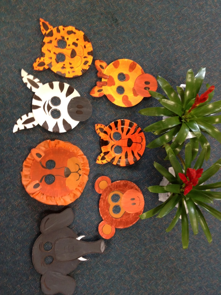 Safari Animal Masks... With paper plates