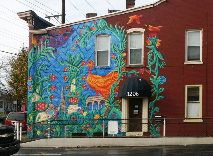 This mural draws inspiration from the neighborhood s for Cincinnatus mural