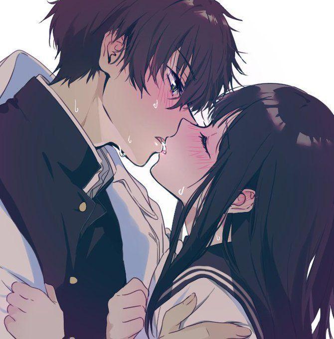 Целующиеся пары картинки аниме