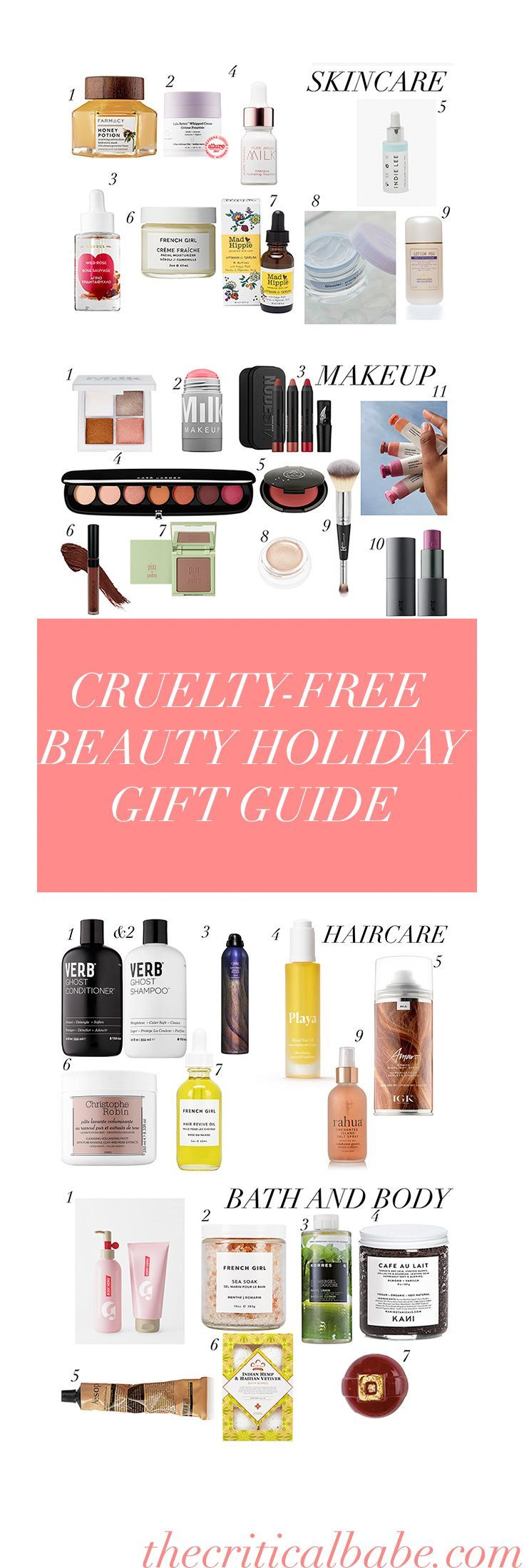 2017 cruelty free beauty gift guide vegan organic and cruelty free products that