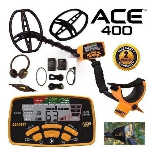cool Garrett Ace 400 Metal Detector Z-Lynk Package Special with Free Accessories