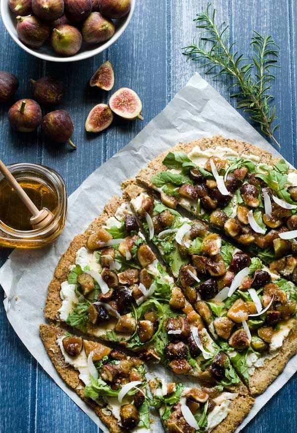 Rosemary Honey Fig Flatbread - A gluten, dairy, egg, and grain free, vegan flatbread you can top with all sorts of yummy things.
