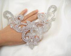 Diamante apliques, apliques de diamantes de imitación corazón dulce, novia Sash apliques, apliques de vestido nupcial, boda apliques, apliques de cuentas perla