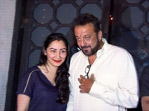 Sanjay Dutt with wife Manyata on a dinner date at The Korner House, Bandra.