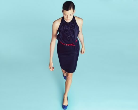 //: Gurung Fashion, Bow Dresses, Style, J Crew Dress, Blue Shoes, Blue Flats, Satin Dresses, Prabal Gurung S, Photo
