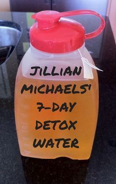 jillian michael's 7 day detox water