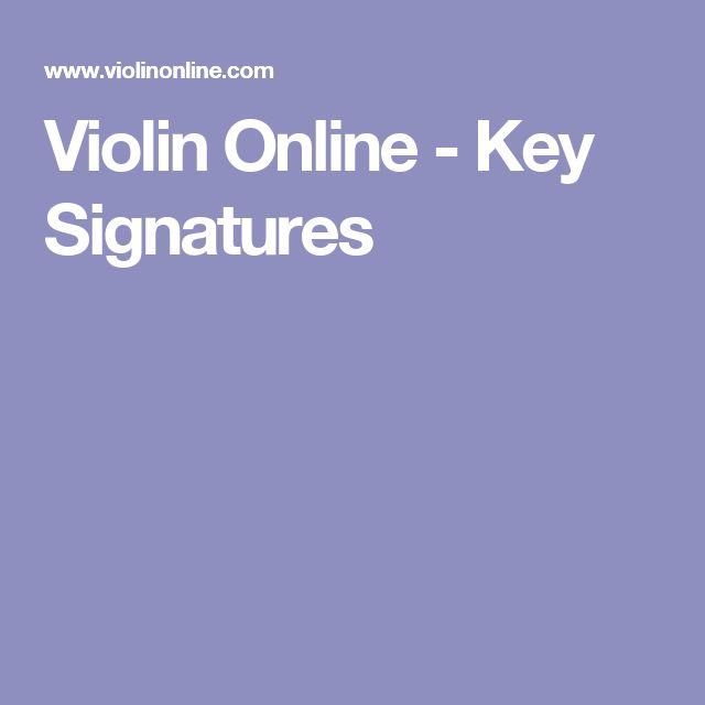 Violin Online - Key Signatures