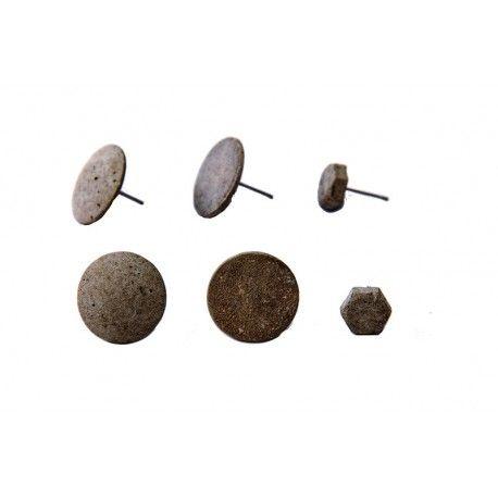 Set betonových náušnic Industry Jewels