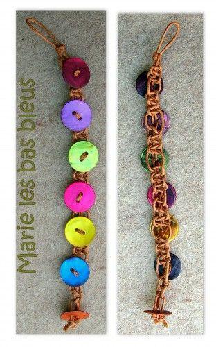 Les 25 meilleures id es de la cat gorie bracelets de l - Comment faire un bracelet avec des boutons ...