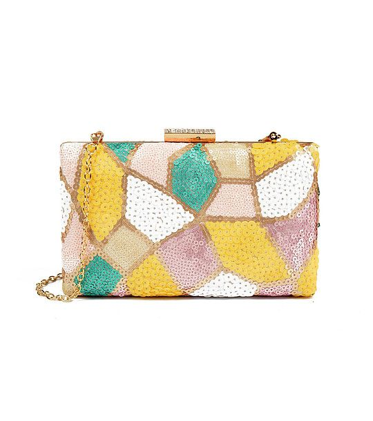 FashionSupreme - Geantă în culori roz, galben și verde Kamea - Accesorii - Genţi - Carla Ferreri - noua colecție de primăvară-vară. Haine şi accesorii de marcă. Haine de designer.