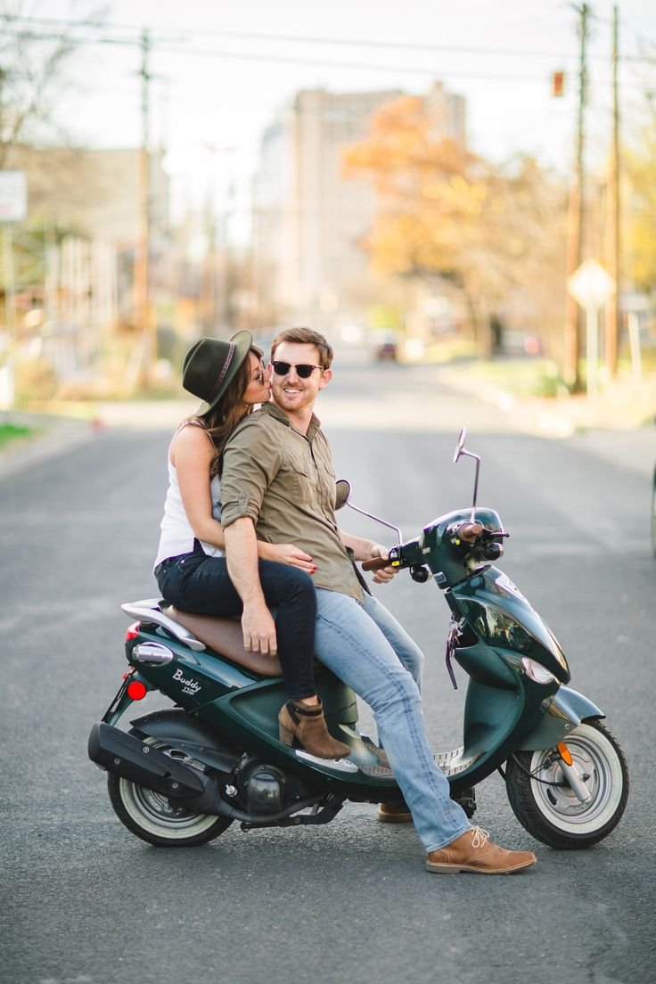 A #GenuineScooter makes the best accessory for engagement photography! Image via @mistysphotos http://www.mistysphotography.com/#!/HOME