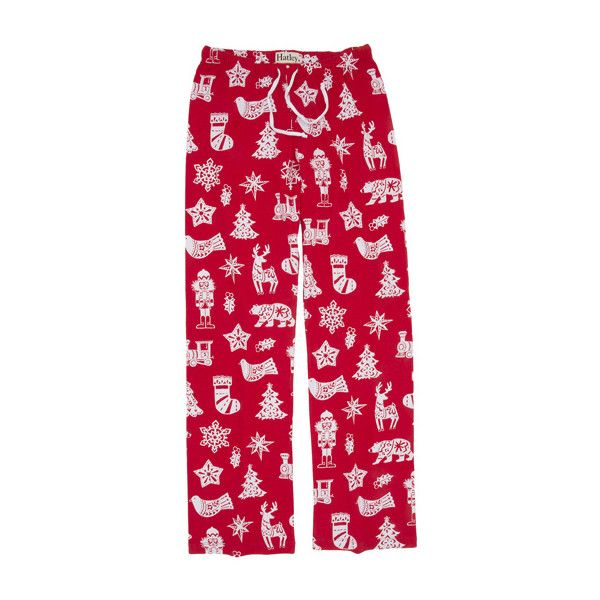 "Hatley Nature ""Bearly Sleeping"" Women's Cotton Knit Pajama Pant in Red found on Polyvore featuring intimates, sleepwear, pajamas, hatley sleepwear, red pjs, pj pants, bear pajamas and hatley"