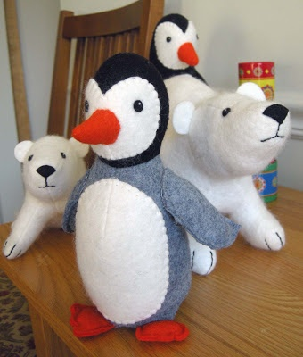 patterns for penguins and polar bears - Betz White - and a contribution to wildlife as well