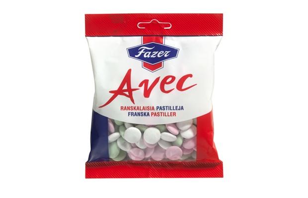 Avec 150g ranskalaisia pastilleja