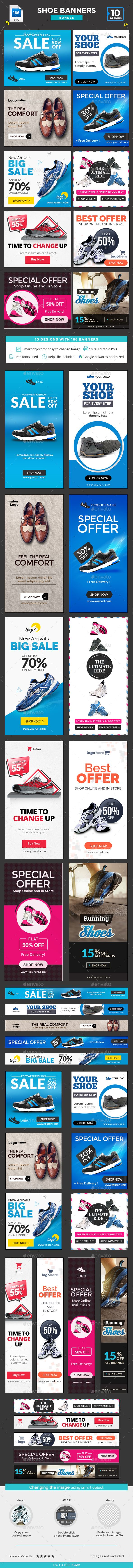 Shoe Sale Banners Bundle - 10 Sets - 166 Banners Templates PSD. Download here: http://graphicriver.net/item/shoe-sale-banners-bundle-10-sets-166-banners/15914322?ref=ksioks