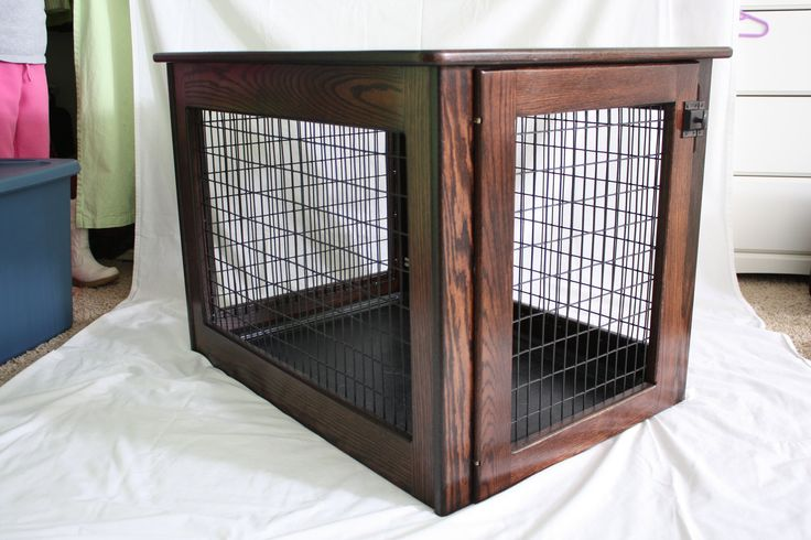 25 best ideas about diy dog crate on pinterest dog for Amish wooden dog crates