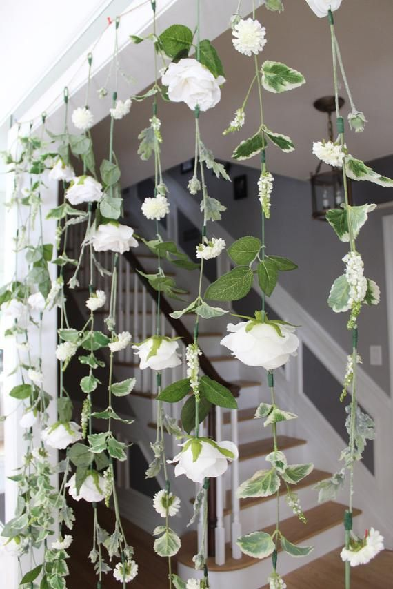 White Flower Garland Wedding Ceremony Backdrop Hanging Flower Backdrop Wedding Flower Garland White Wedding Garland Wedding Flower Wall Flower Wall Wedding Flower Garland Wedding Hanging Flowers Wedding