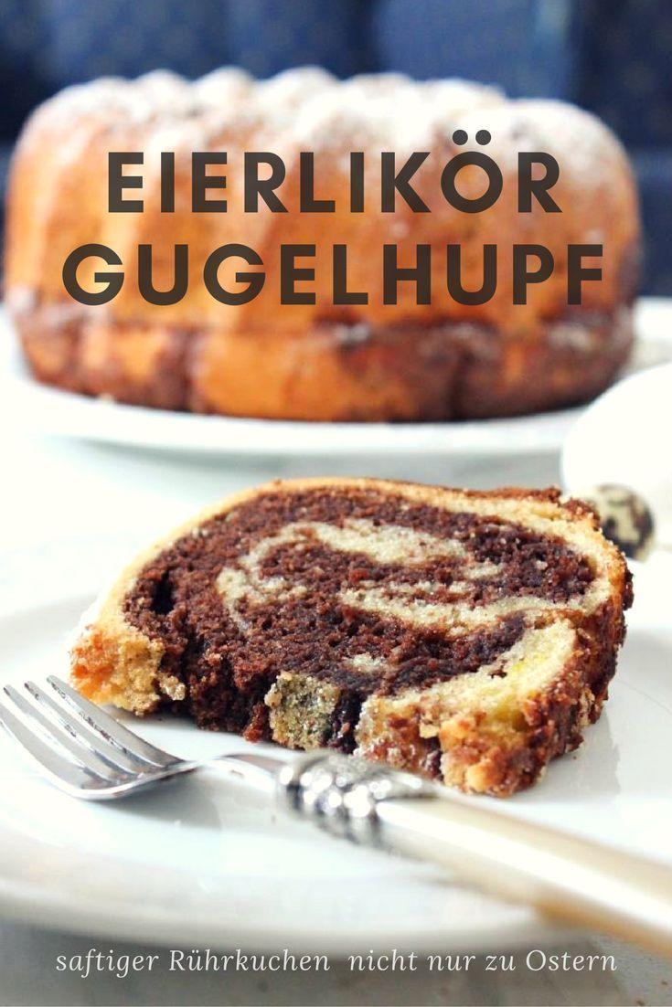 Klassischer Gugelhupf verfeinert mit Eierlikör und Nuss-Nougat-Creme - super lecker, super saftig I küchenkränzchen