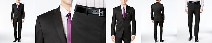 Marc New York by Andrew Marc Men's Classic-Fit Black Solid Suit