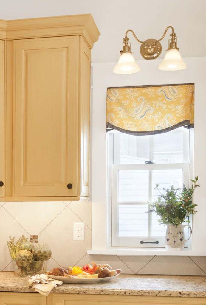 167 best window treatment ideas images on pinterest for Kitchen cornice ideas