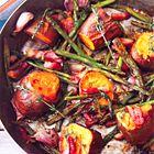 Nigella Lawson: zoete aardappelen voor twee | zie opmerkingen (niet alles tegelijk bakken)