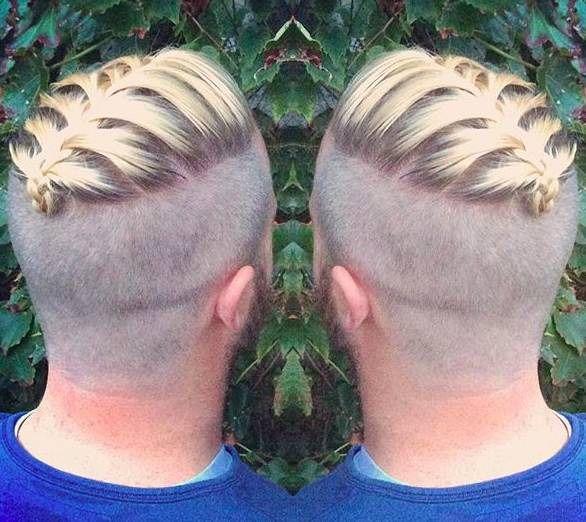 Short Man Braid Undercut Hairstyle Hipster Pictures Men
