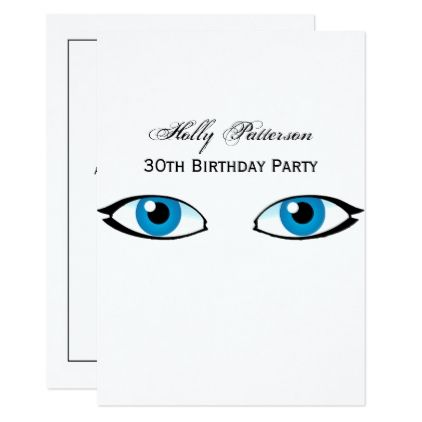 Facial parts - Bright Blue Eyes Card - giftidea gift present idea number thirty thirtieth bday birthday 30thbirthday party anniversary 30th