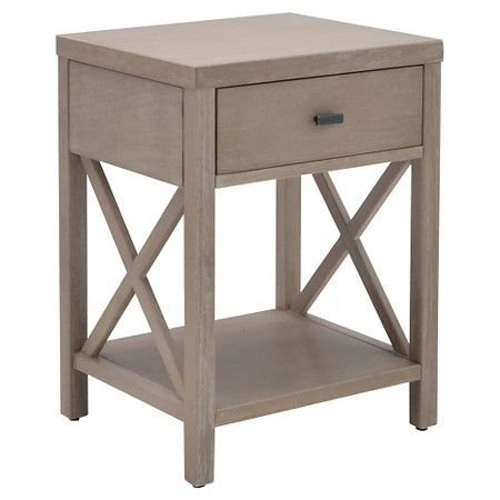 Owings End Table with Drawer Rustic - Threshold™ : Target