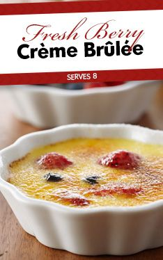 A berry delicious crème brulee!