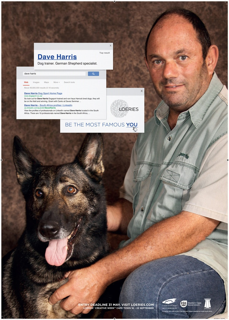 Dave Harris trains big dogs. He specialises in German Shepherds (good man). And the local version? Google to see.