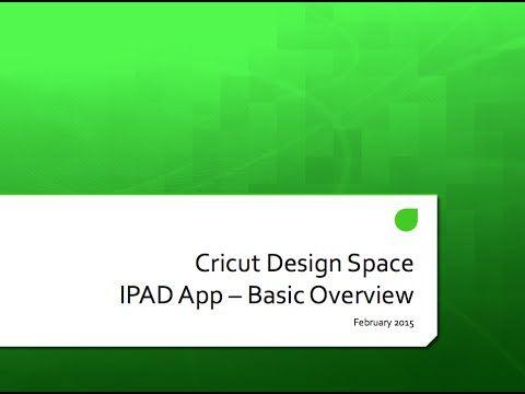 Cricut Design Space Ipad App Feb 2015 - YouTube