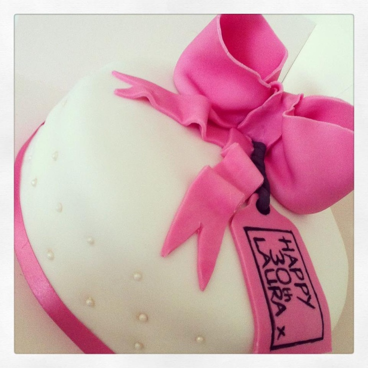 The pearl beading on this birthday cake was the perfect finishing touch x