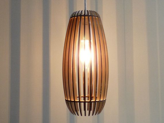 Woodshades  Lamello  laser cut wooden lamp by CreativeUseofTech, $65.00