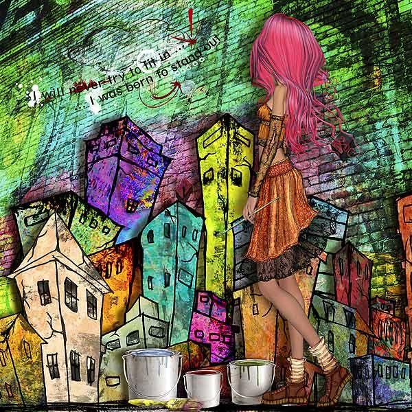 artwork by lmgdonahue   using 'Illustrated' kit
