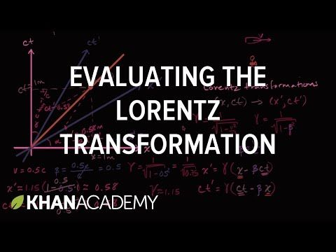 Evaluating a Lorentz transformation | Special relativity | Physics | Khan Academy - YouTube