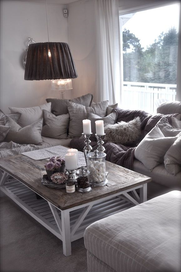 Comfy Living Room Furniture #25: Country Glam Living Room
