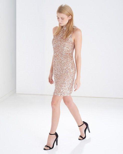 Gold Moonbeamer Embelished Shift Dress #ARWishlist