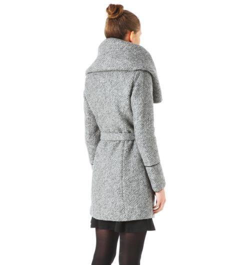 Manteau tweedé Femme gris moyen - Promod