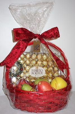 Chocolate & Organic Fruit Gift Basket for Christmas