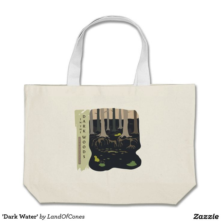 'Dark Water' Jumbo Tote Bag