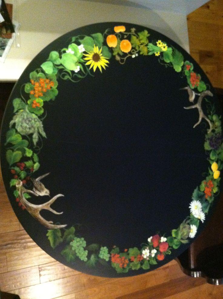 Hand Painted Table Top. Joankingart.com