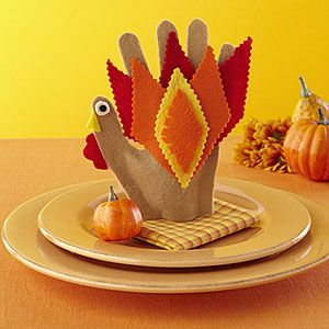 Thanksgiving Kids Craft! Click on the link to find easy instructions on how your kids can help make table decorations!