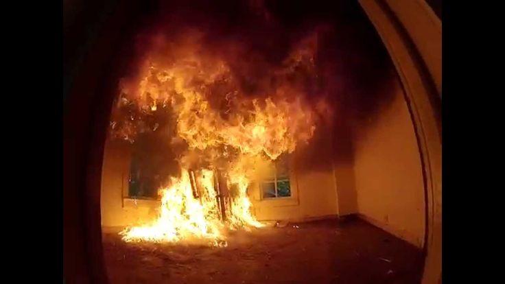 Flashover fire at Live Burn Leesville Rd