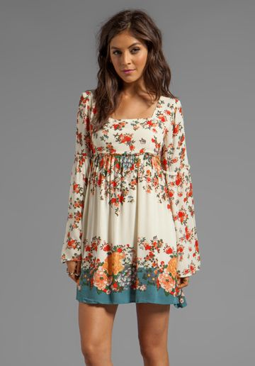 Modern Chinoiserie Dress in Tea Combo - Free People