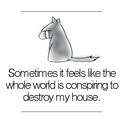 Sometimes it feels like the whole world is conspiring to destroy my house.