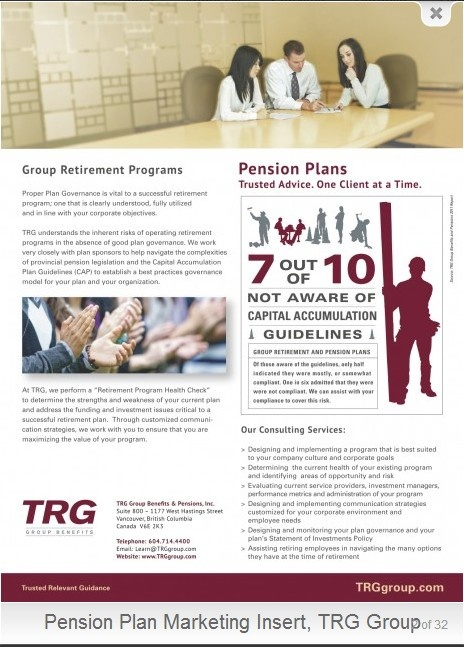 TRG Group Benefits - Group Retirement Programs Employee Benefits