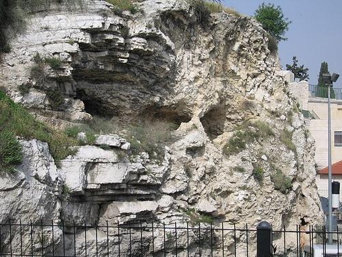 golgotha calvary hill  skull      rock