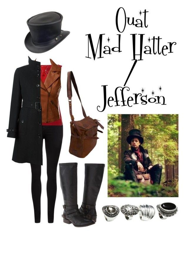 """""""Ouat mad hatter/Jefferson"""" by marvelteen ❤ liked on Polyvore featuring Dr. Denim, Wolford, Doublju, Burberry, Jas M.B., H&M, Freebird and Once Upon a Time"""